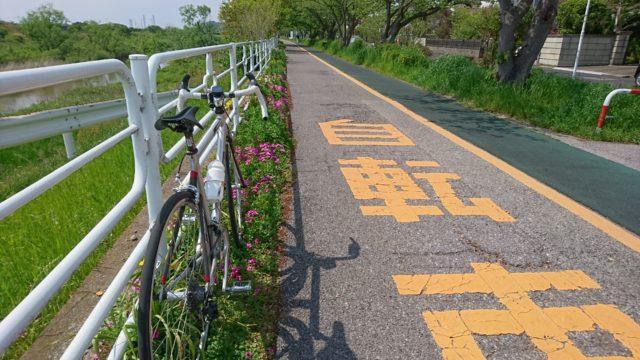 自粛中のお散歩サイクリングコース001(中島・常代方面)